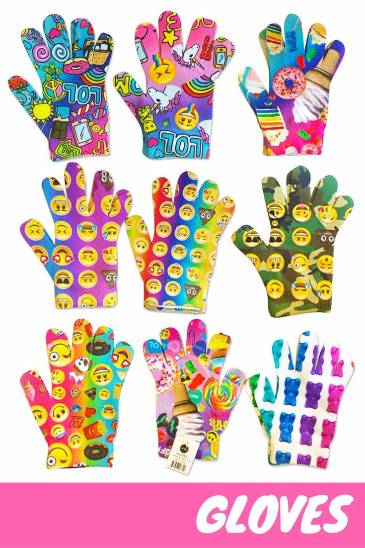 Never too early for gloves! 😱😱😱 Emoji and candy print