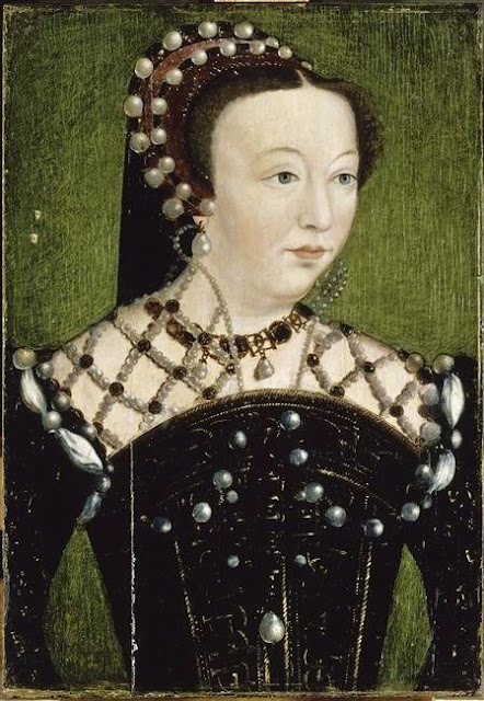 1550s Catherine de' Medici (1519-89), Queen of France (1547-59) after Clouet