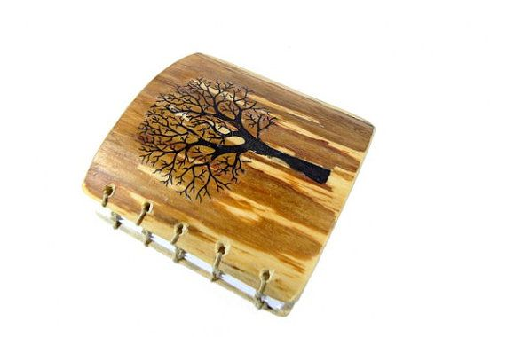 WOODEN BOOK Rustic Journal  wood book   Coptic by NewDesignUS, $49.00
