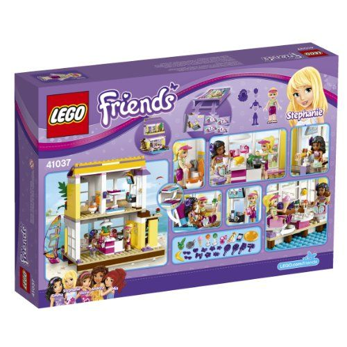 LEGO Friends 41037 Stephanie's Beach House... Open the door to Stephanie's Seashore Home! Stephanie and Kate have come here for the weekend. Take Kate as much as the terrace whereas Stephanie heads out on the windsurfer. Later, it's time to look at some TV, take heed to the latest hits on the radio and cook dinner in the kitchen. Convert the couch into a bed and prepare for a comfortable night in – and so much extra adventures the following day! Contains Stephanie and Kate mini-doll…