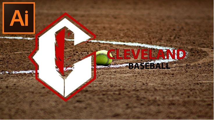 How to Make a Baseball Sports Logo Design of Cleveland Team in Adobe Ill...