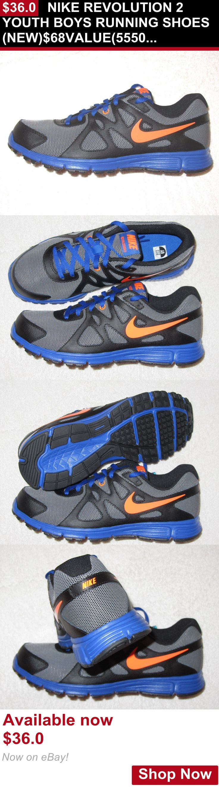 Children boys clothing shoes and accessories: Nike Revolution 2 Youth Boys Running Shoes(New)$68Value(5550820101) BUY IT NOW ONLY: $36.0