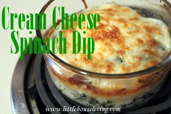 Cream Cheese Spinach Dip. Yum, the perfect dip for any party!