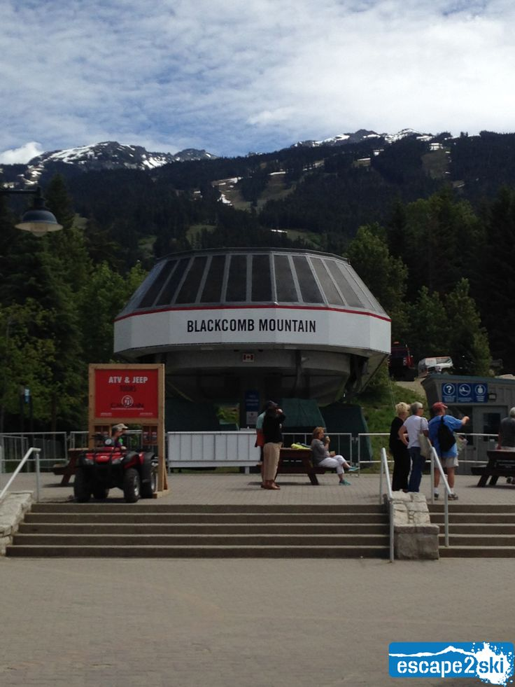Escape2ski - Whistler Blackcomb, Whistler BC. Blackcomb Mountain gondola, June 6, 2014. Escape2ski connects you to skiing and snowboarding.