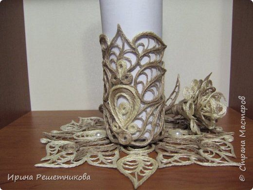 Приветствую рукодельниц! Сегодня у меня наборчик-трио: вазочка,розочка и салфетка. фото 3
