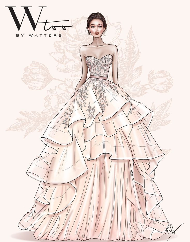 35 Timeless Wedding Dresses For The Classic Bride Fashion Illustration Sketches Dresses Dress Design Drawing Fashion Illustration Dresses
