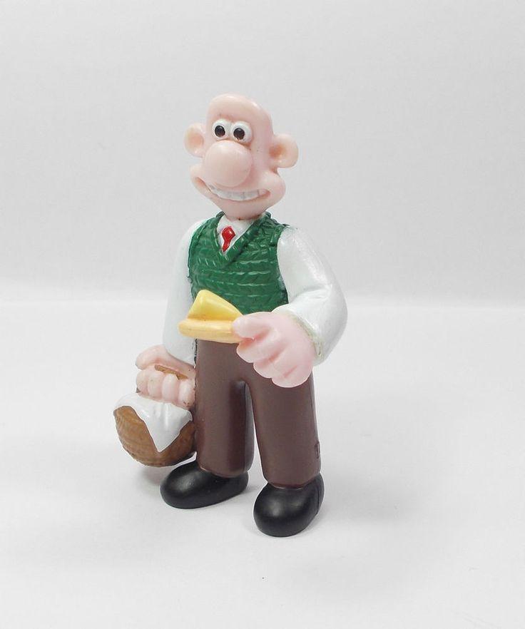 Wallace & Gromit - Wallace - Mini Toy Figure - Aardman 1989 - Cake Topper C