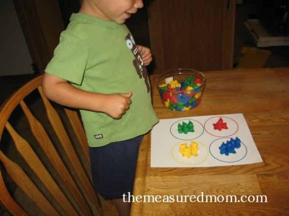 math activities with counting bears for ages 2 8