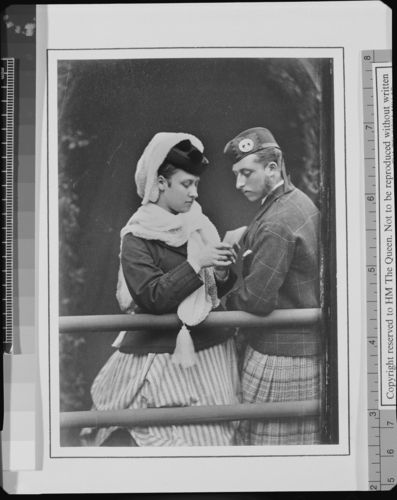 Princess Louise and Prince Arthur, September 1870 [in Portraits of Royal Children Vol. 15 1870-71]
