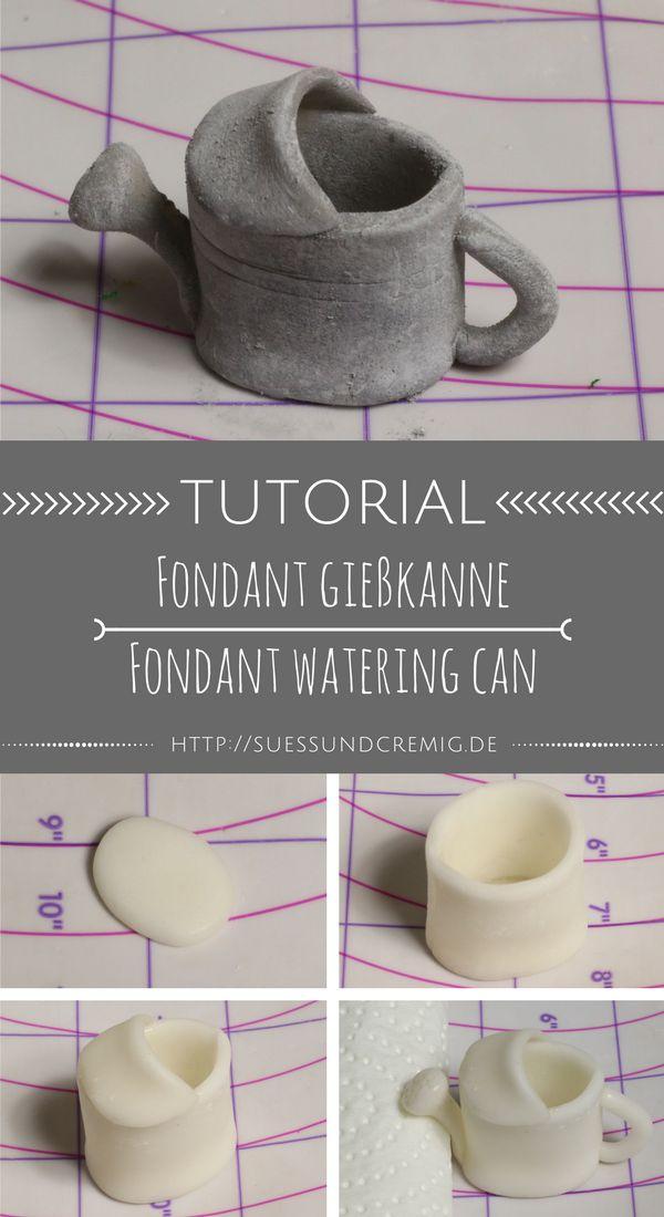 Fondant Gießkanne Anleitung | Fondant Watering Can Tutorial | DIY | Gartentorte | Gardencake | süß und cremig - Foodblog