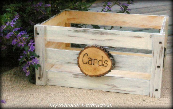 Wedding Card Box Program Crate Rustic Winter Wedding Decor (YOUR COLOR CHOICE). $59.00, via Etsy.