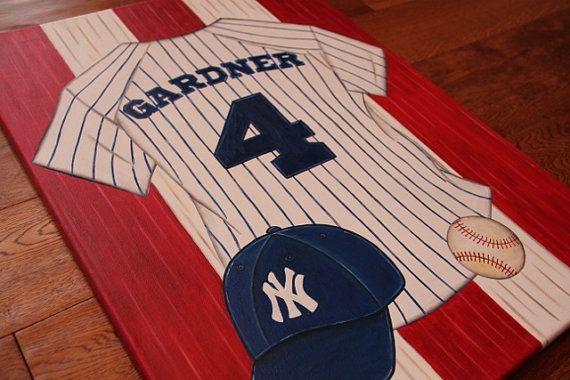 You Pick Team Baseball Sports Yankees Wall Hanging Blue