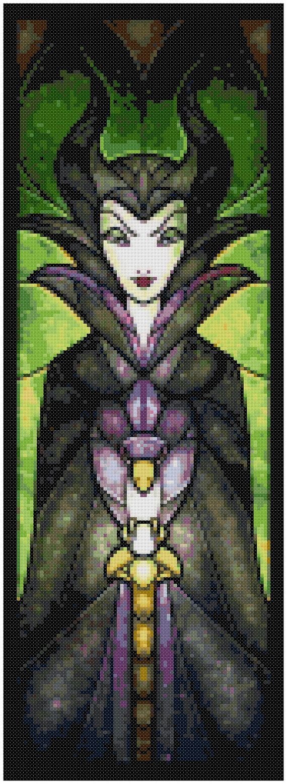 Cross stitch pattern Disney Maleficent Stained by XStitchAddict                                                                                                                                                                                 More