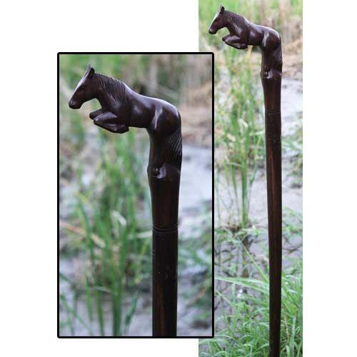 Hand Carved Walking Sticks | hand carved wooden horse walking stick wooden horse…