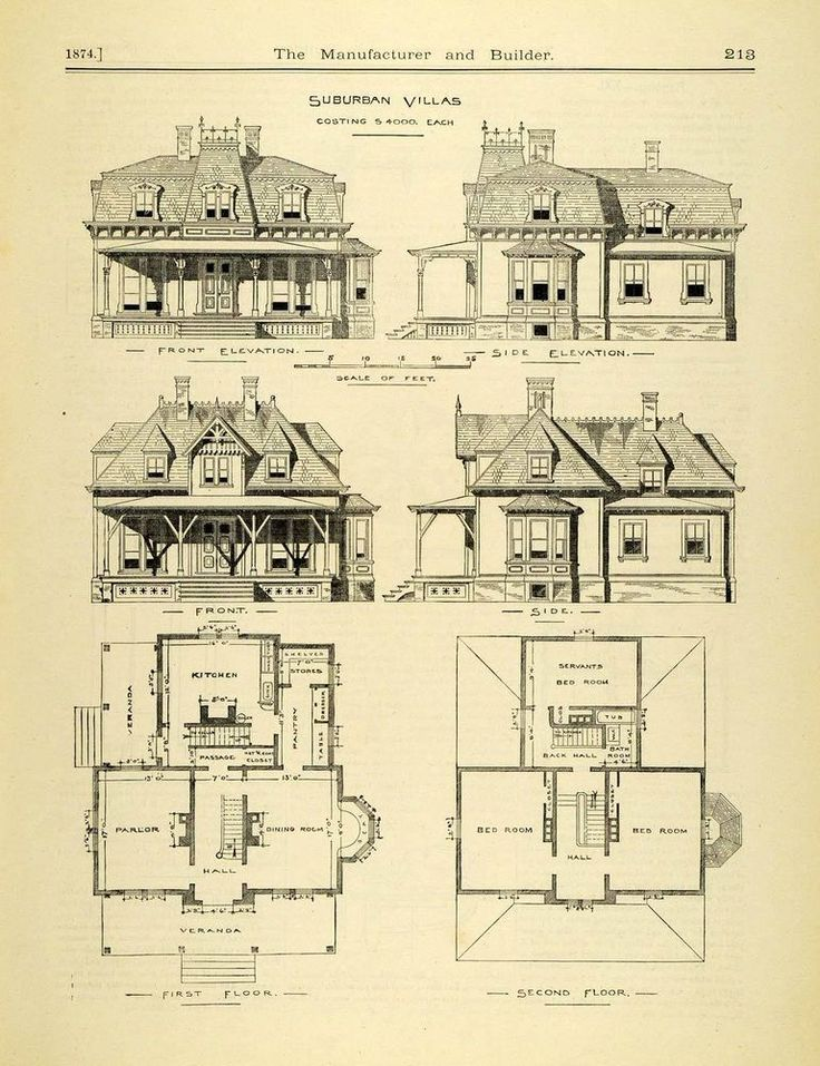 266 best images about vintage home plans on pinterest Historic colonial house plans