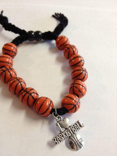 I Love Basketball charm bracelet