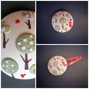 Bisuteria fimo y sculpey ilustración caperucita roja. #fimo,#sculpey,#moda,#complementos infantiles. http://sofiasthings.com.