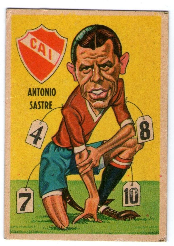 figurita tarjeton futbol sport 67 n17 sastre (independiente)