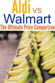 Is Aldi really cheaper than Walmart? I went to both stores for the ultimate price comparison on over 85 items and I'm sharing it all on the blog!