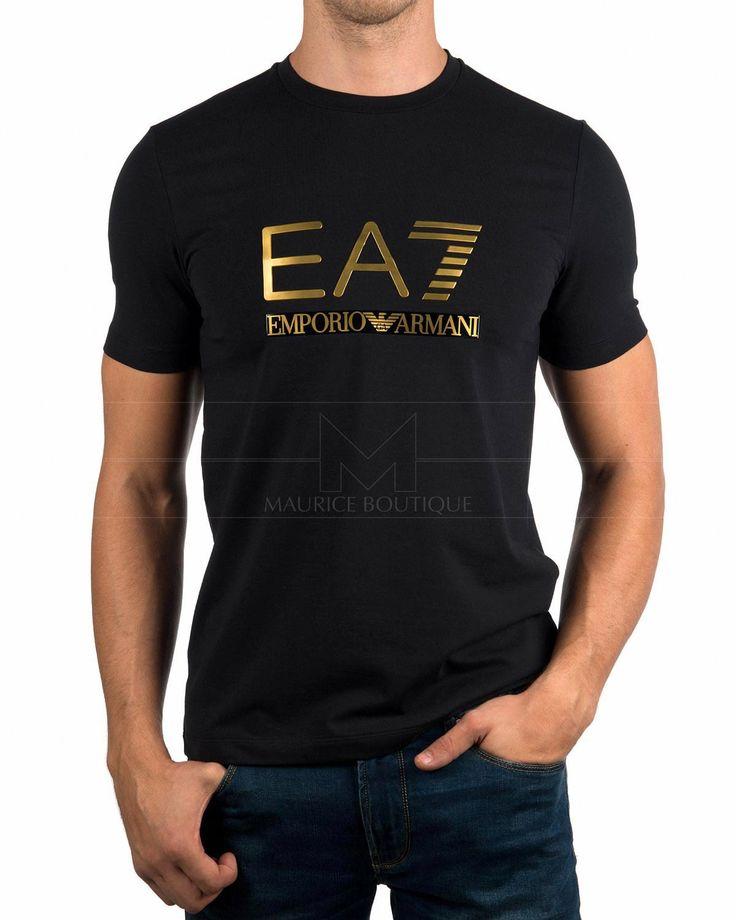 Camisetas Armani EA7 - Negro & Dorado