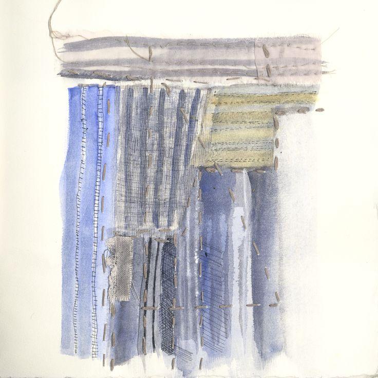 Gouache sketch of boro detail #theBorocollection by #paolamelendez