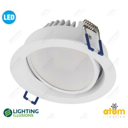 White - Cool White Atom 13W LED Dimmable Hi Output Gimble Downlight - Shop - Lighting Illusions Online