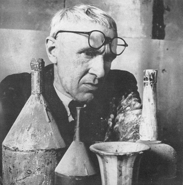 Giorgio Morandi, 1890-1964 Italian painter and Printmaker. He painted constructed still-life with ambiguous distortions of perspective.