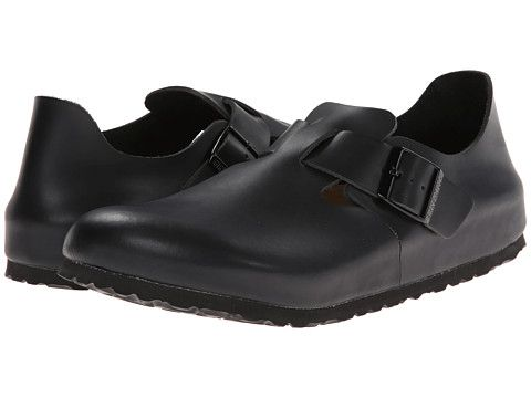 Birkenstock London Soft Footbed Hunter Black Leather - Zappos.com Free Shipping BOTH Ways