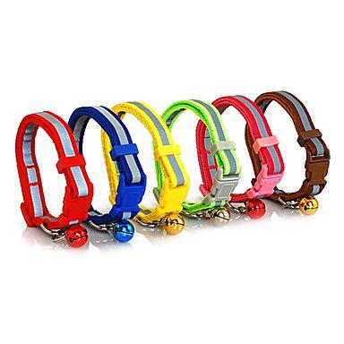 Plastic+Buckle+Noche+reflectante+de+seguridad+Nylon+Pequeño+Collar+con+campanilla+para+perros+–+MXN+$+37.21