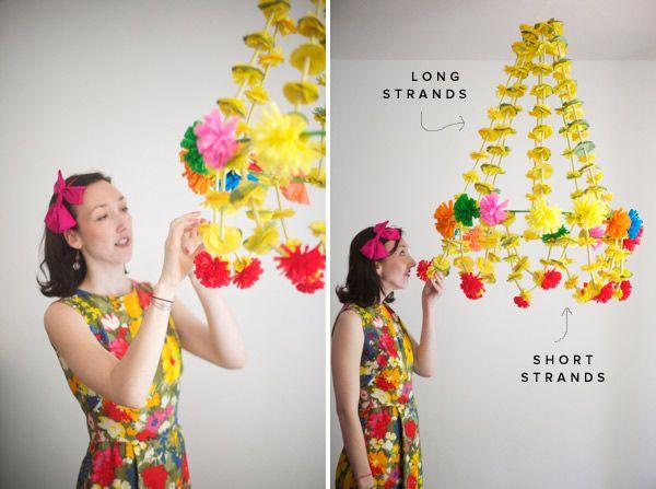 Make a Giant Polish Chandelier #DIY