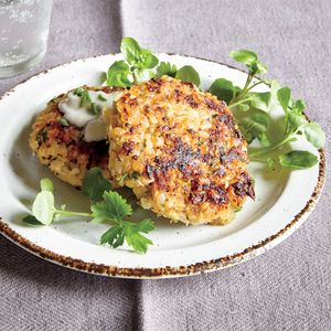 Cauliflower Risotto Cakes | Cooking Light (make with Sweet Onion Risotto with Sautéed Kale and Italian Wedding Risotto Soup)