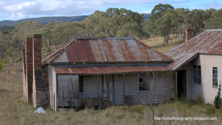 """Abandoned Old Farm House"" -- [An abandoned house at 3640 Cooma Road - Braidwood, New South Wales, Australia in April 2011.]~[Photograph by Tofu Photography - May 11 2011]'h4d-72.2013'"
