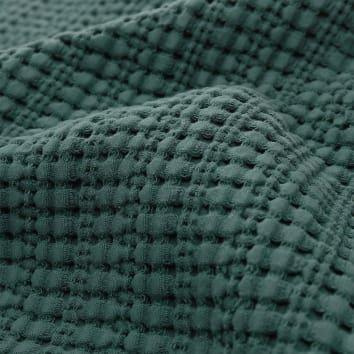 Tagesdecke Anadia, Grünin strukturiertem Jacquard | URBANARA