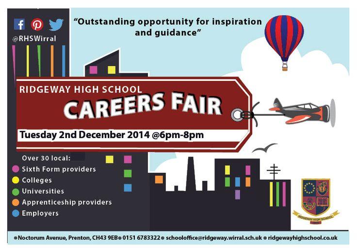 Careers Fair poster, Ridgeway High School, Wirral.  http://www.ridgewayhighschool.co.uk/