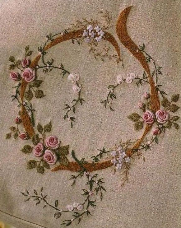 Lovely embroidered roses