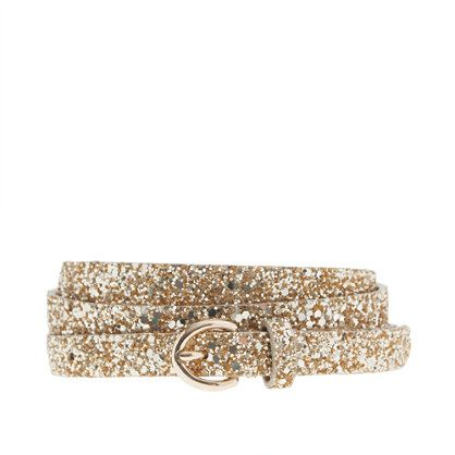 J.Crew Glitter Belt- Perfect way to fancy up a little black dress!