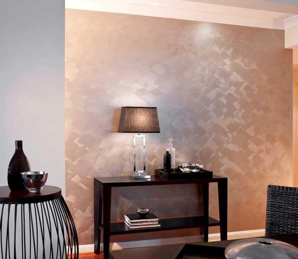 Decoración de interiores con pintura metalizada.