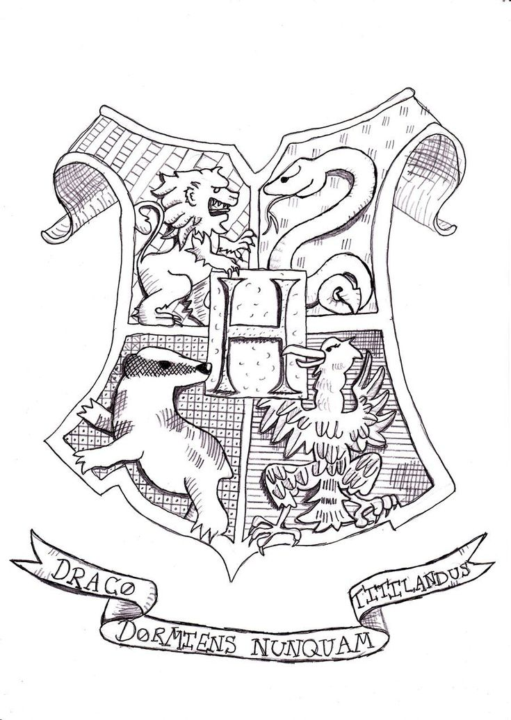 Harry Potter Hogwarts Coloring