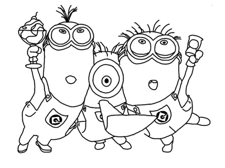 Minions Despicable Me Coloring Pages Printable And Book To Print For Free Find More Online Kids Adults Of