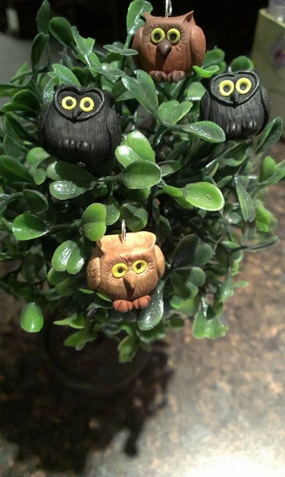 polymer clay owls https://www.facebook.com/ClayMiniGifts/