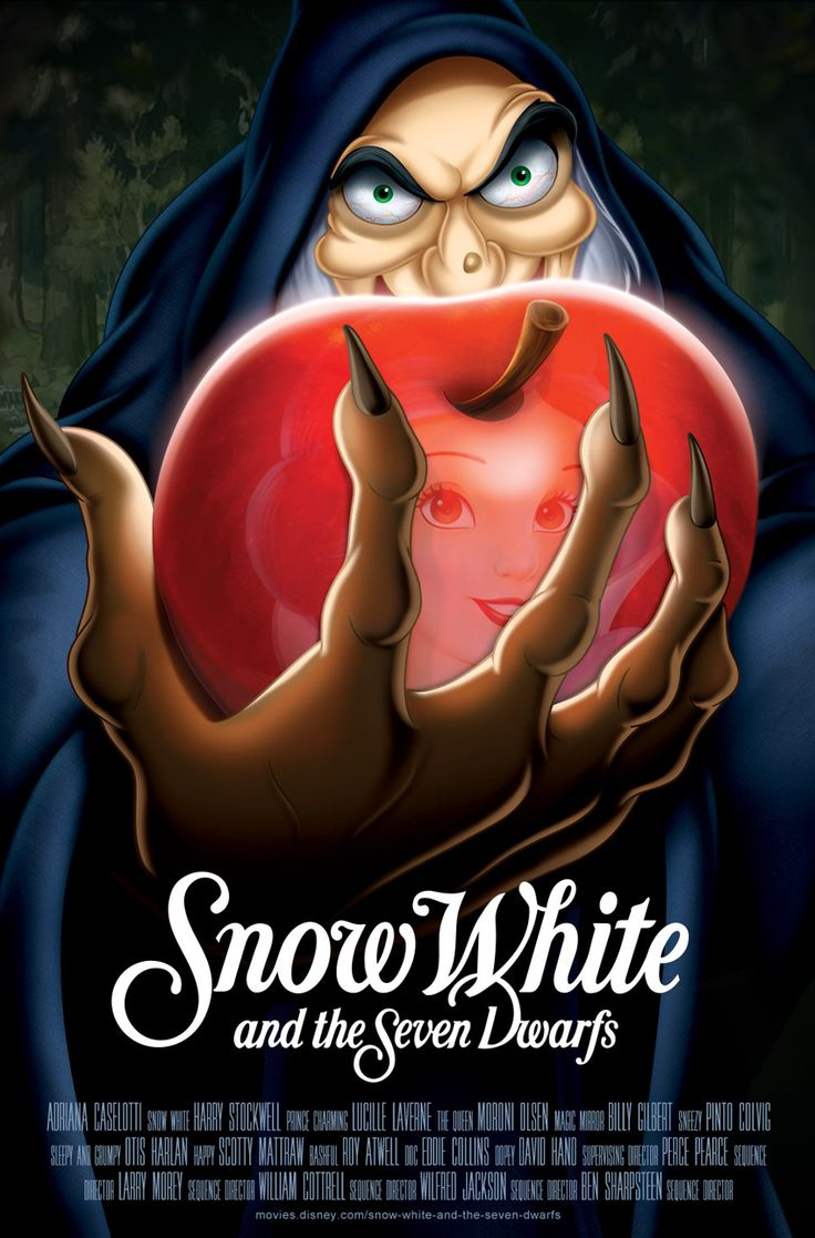 Overdramatic Disney Movie Posters (click link for more!) | Snow White and the Seven Dwarfs