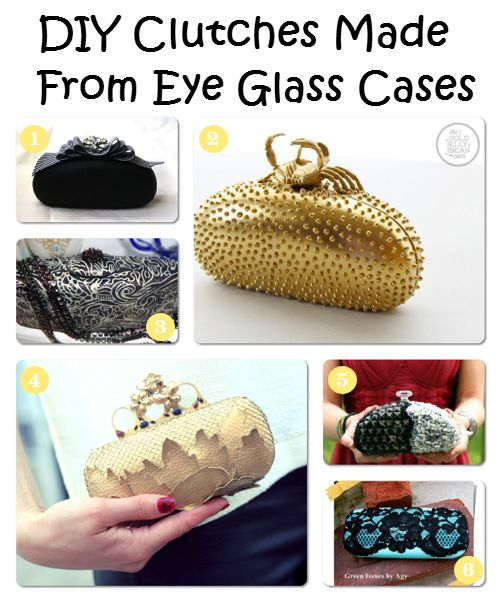 Crafts and DIY Community: DIY Clutches Made From Eye Glass Cases | Crafts and DIY Community