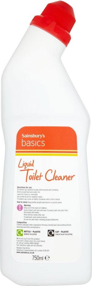 Sainsbury's Basics Liquid Toilet Cleaner Pine (750ml)