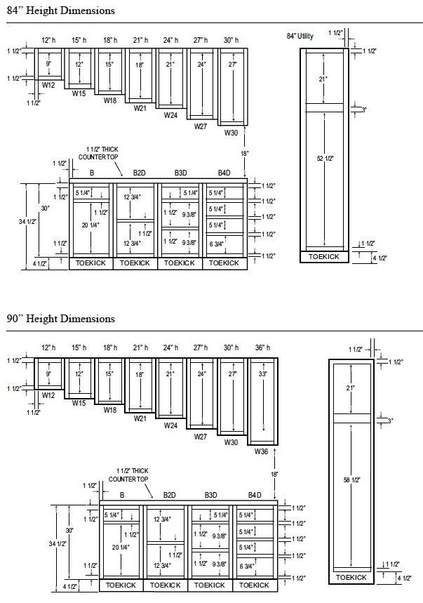 Kitchen Cabinet Dimensions PDF | Highlands Designs Custom ...