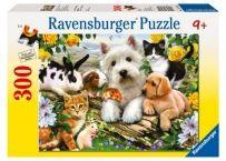 Puzzle Animale Prietenoase, 300 piese | Bebeart