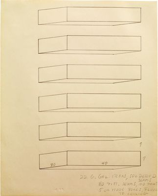 Donald Judd: 2D Drawings
