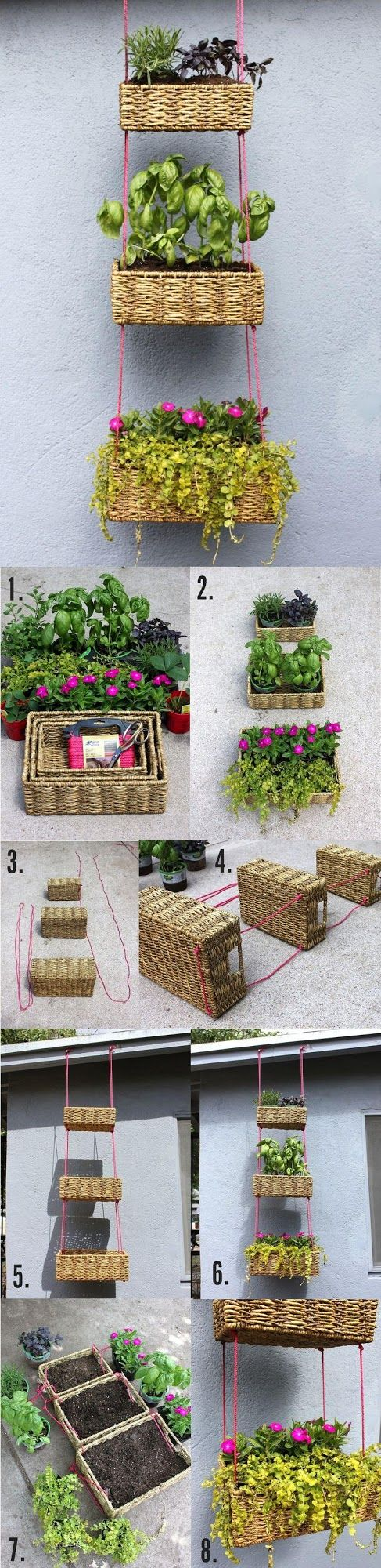Easy DIY hanging baskets