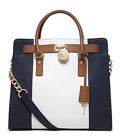 MICHAEL Michael Kors Hamilton Colorblocked Large NorthSouth Tote #Dillards
