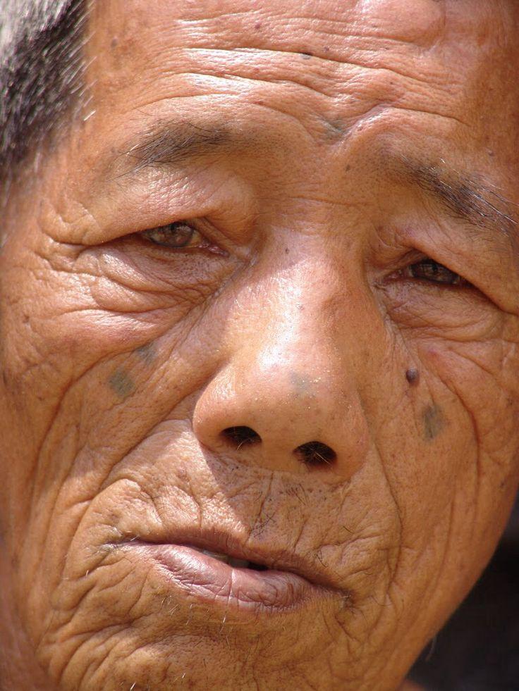 Ifugao tribe with face tatto. 2005