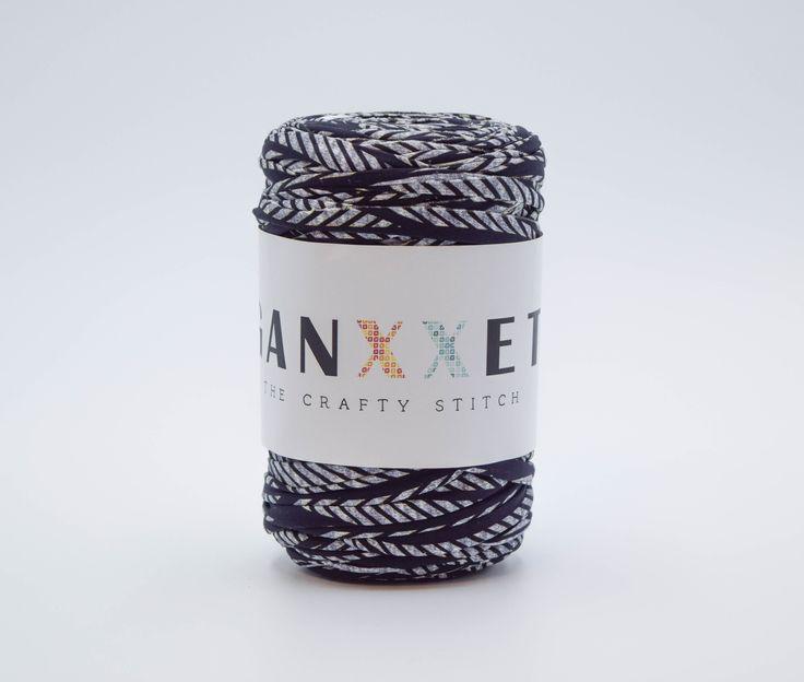 GANXXET Fabric Yarn - Ferrol ( black with grey print )